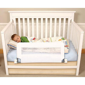 Regalo - Barrière de sécurité rabattable pour lit de bébé.