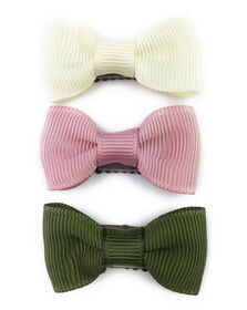 Baby Wisp - Mini Latch Bows - Charlotte 3 Pack Set - Blanc, Rose, Vert