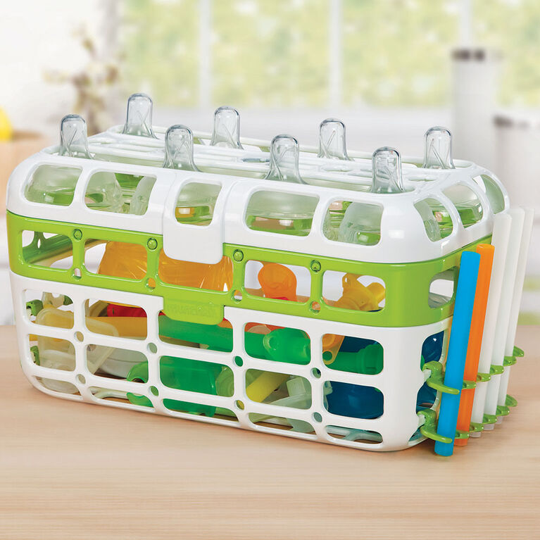 Munchkin High Capacity Dishwasher Basket - Green