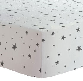 Kushies - Fitted Sheet - Black Stars