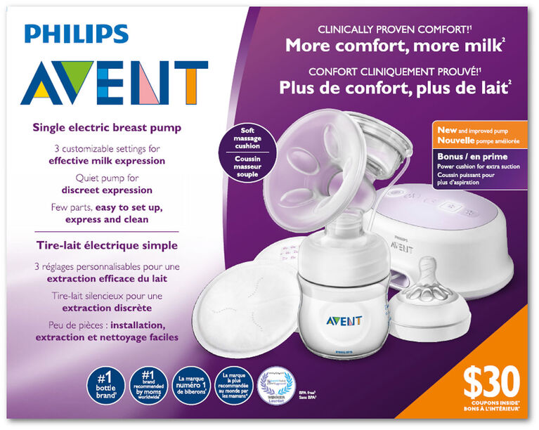 Philips Avent Single Electric Breast Pump Bonus Power Cushion