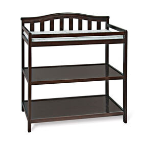 Child Craft arch top changing table - Jamocha finish