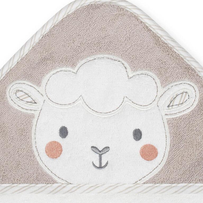 Koala Baby 2-Pack Woven Hooded Towel, Little Lamb