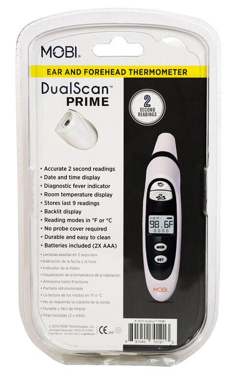MOBI DualScan Prime Thermomètre à l'oreille et au front.