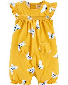 Carter's Butterfly Romper - Yellow, 3 Months