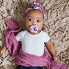 Itzy Ritzy Sweetie Soother Bows, Orchid and Lilac