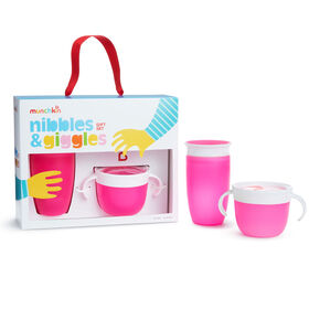 Munchkin- Nibbles & Giggles Gift Set- Pink - English Edition