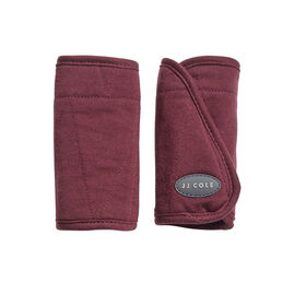 JJ Cole Car Seat Reversible Strap Covers - Wine Triangles
