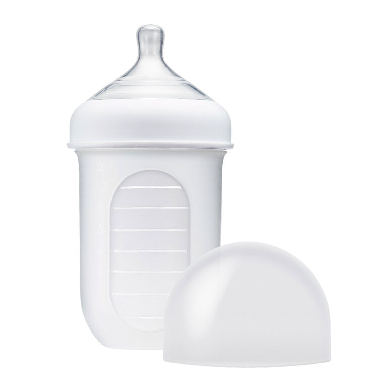 Boon Nursh Silicone Pouch Bottle 8 oz Clear