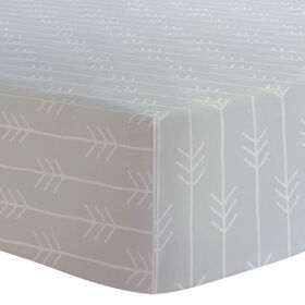 Kushies - Pack N Play Sheet - Grey Arrows