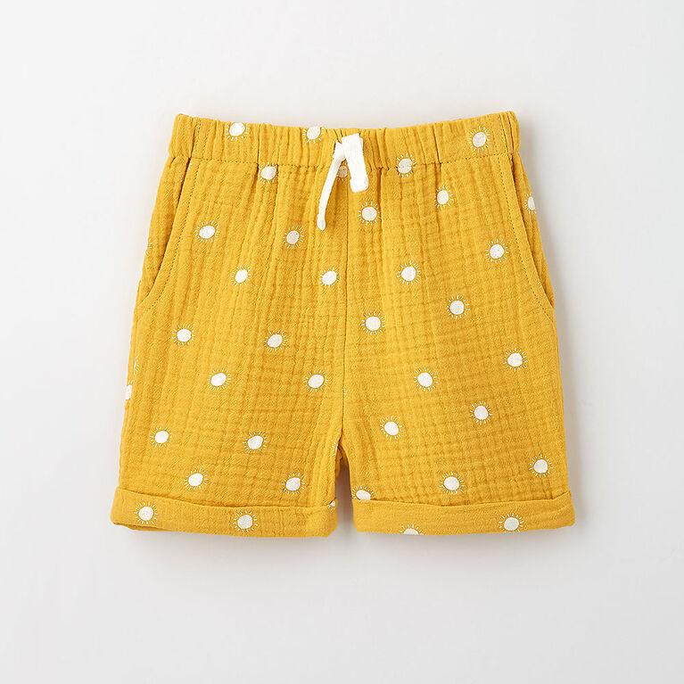 cutie crinkle short, 18-24m - rattan