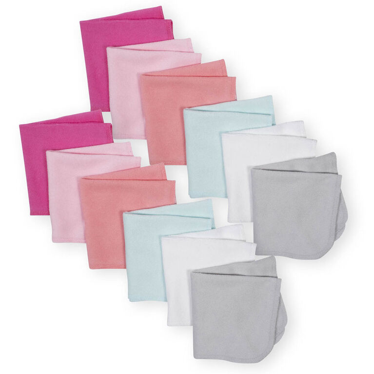 Koala Baby 12-Pack Washcloth, Pink Variety