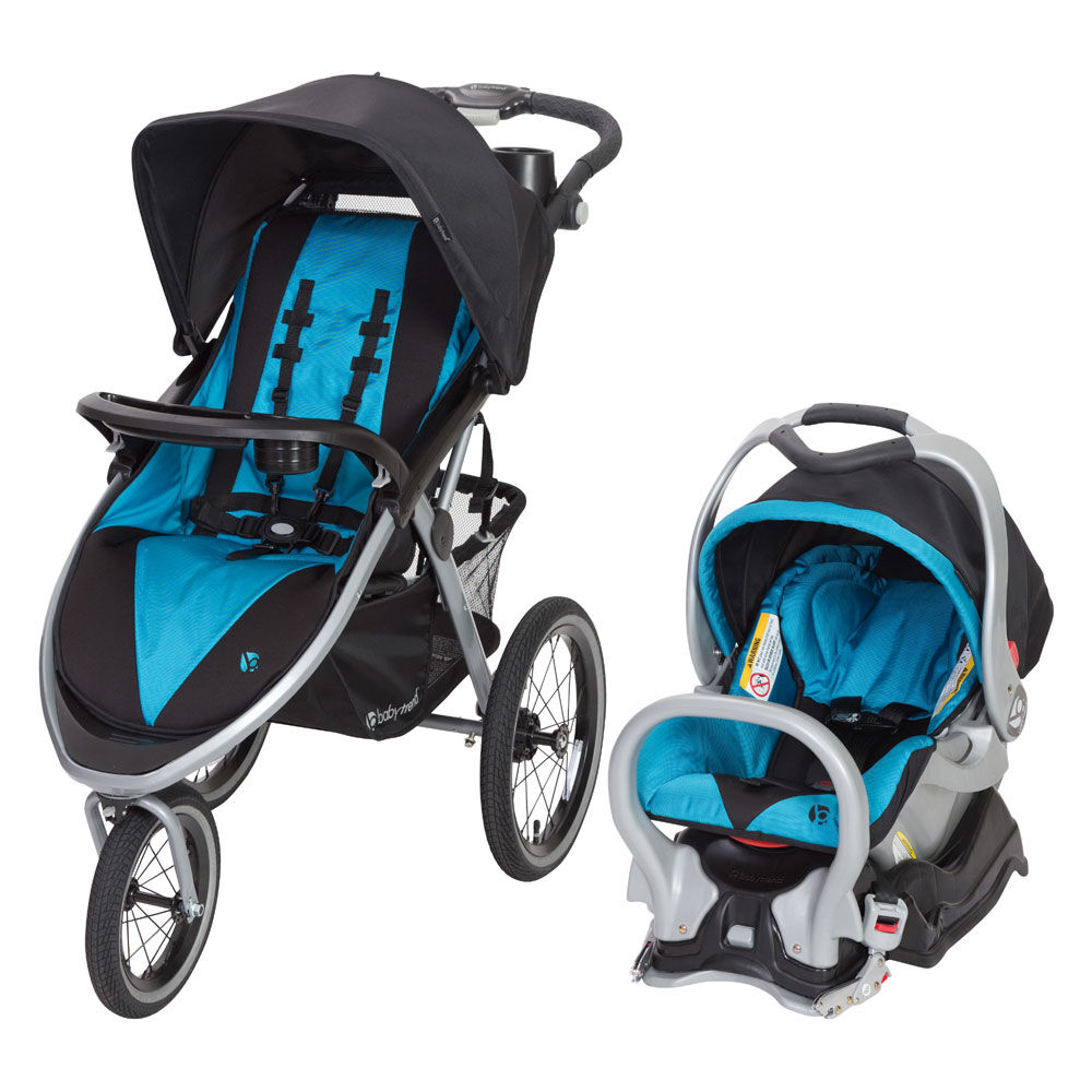 Baby Trend Expedition Jogger Stroller with Car Seat Travel System Boys Baby Blue