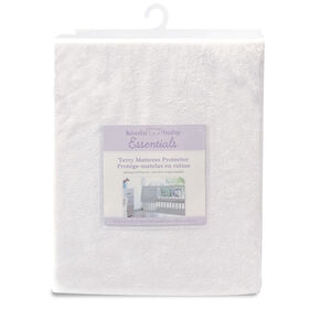Koala Baby - Waterproof Terrycloth Mattress Protector - White