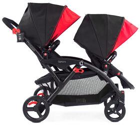 Poussette tandem Contours Options - noir/rouge - Notre exclusivité