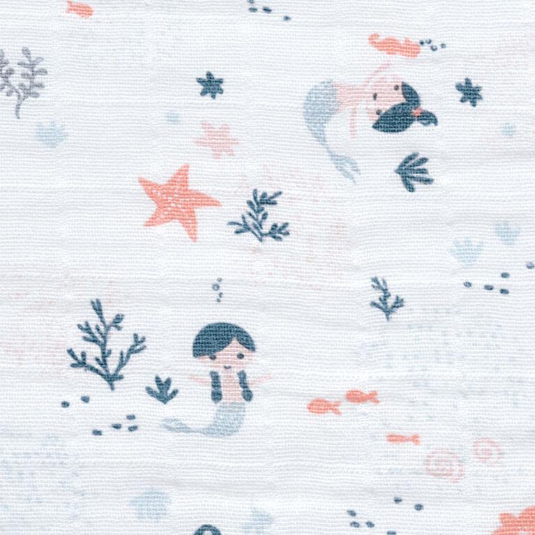 Sleepbag-Muslin-Allover Mermaids(0,7Tog) 0-6 Months