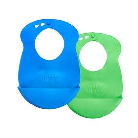 Tommee Tippee Explora 2-Pack Easi Roll Bib - Blue/Green