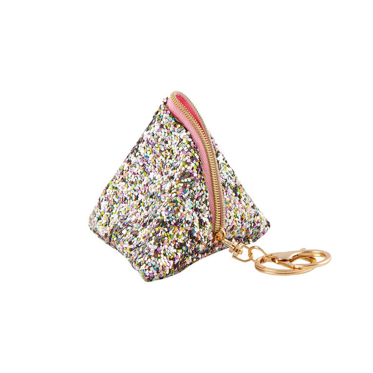 Fashion Angels - Magic Sequin Triangle Pouch Bag Charm - White Multi