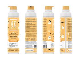 Hello Bello - Shampooing et gel douche de haute qualité - Abricot et vanille - 296ml