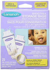 Lansinoh Storage Bags Breastmilk 50 Pre-Sterilized Bags