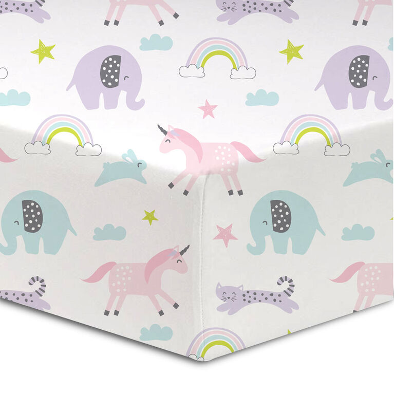 Koala Baby Cotton Flannel Fitted Crib Sheet