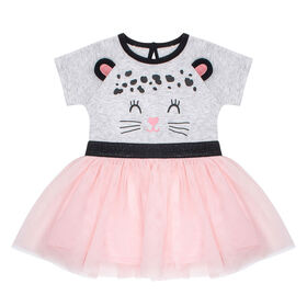 PL Baby Feline Fabulous Tutu Dress Light Grey 6M