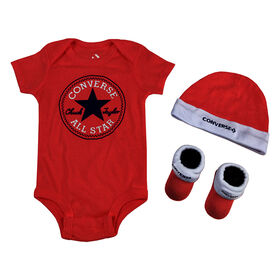 Converse 3pc gift Set - Red, Size 0-6 months
