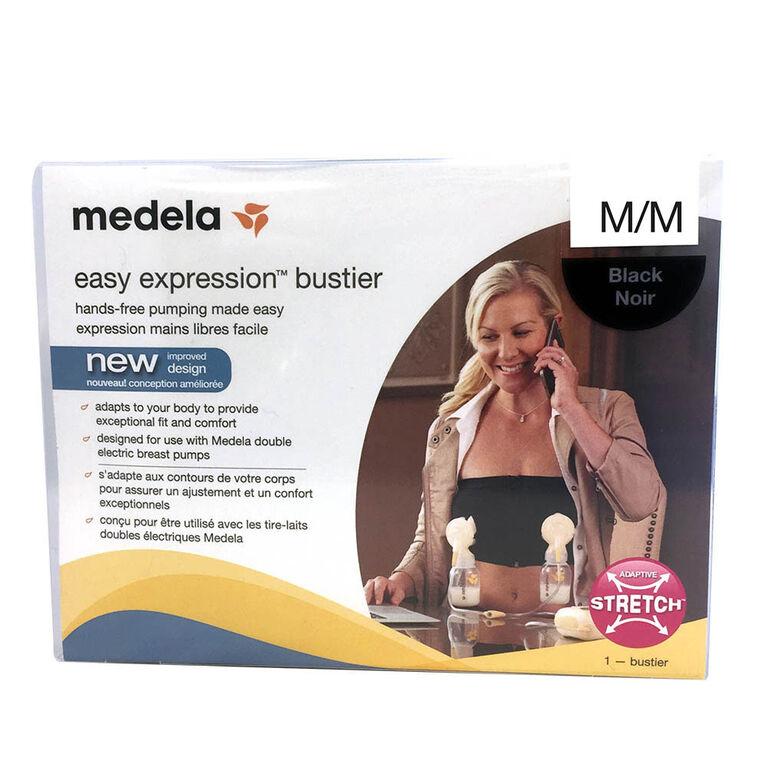 Medela Easy Expression Bustier - Black, Medium