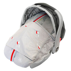 Petit Coulou Summer Car Seat Cover - Grey/Red