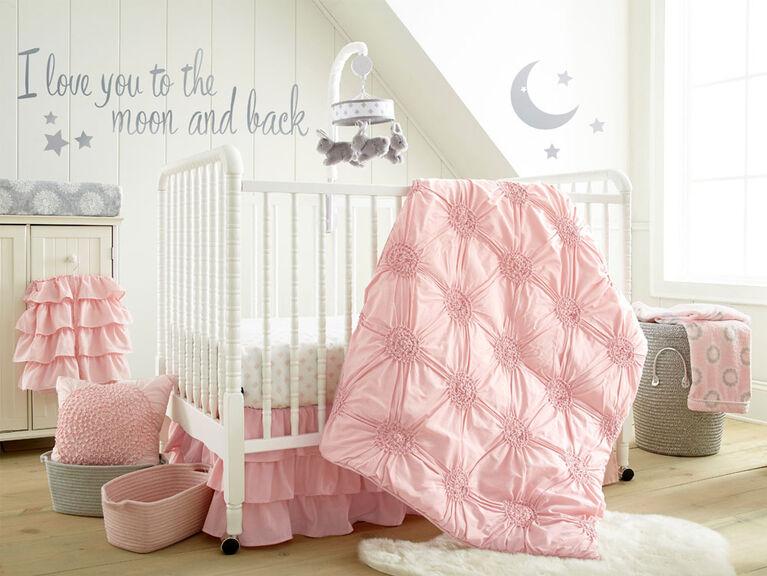 Levtex Baby Willow 4-Piece Crib Bedding Set - Pink