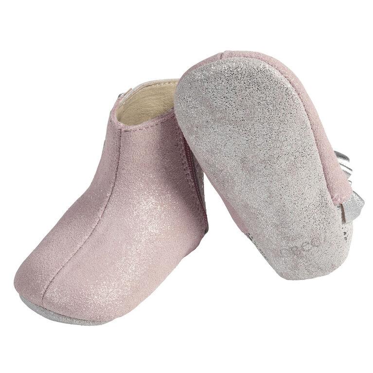 Robeez - Semelles souples Pink Shimmer 6-9M