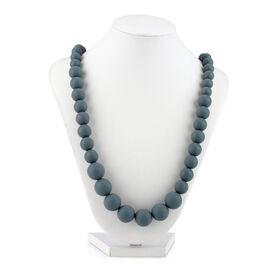 Collier de dentition a perles Teething Trends de Nuby - gris.