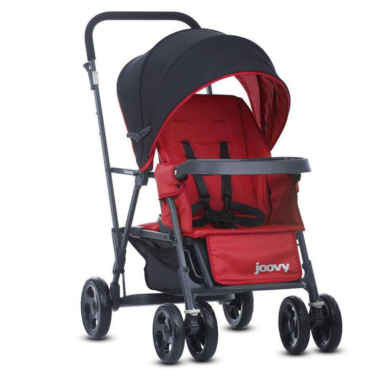 Joovy Caboose Graphite Stand-on Tandem Stroller - Red