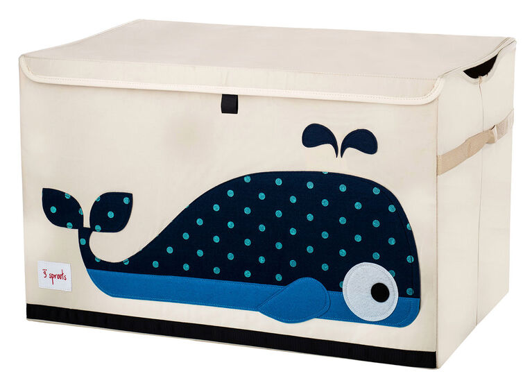 3 Sprouts Toy Chest Whale - Blue