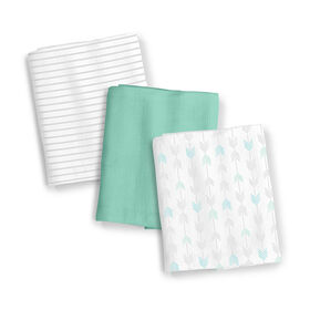 Summer Infant SwaddleMe Muslin Blankets - Aztec Stripe