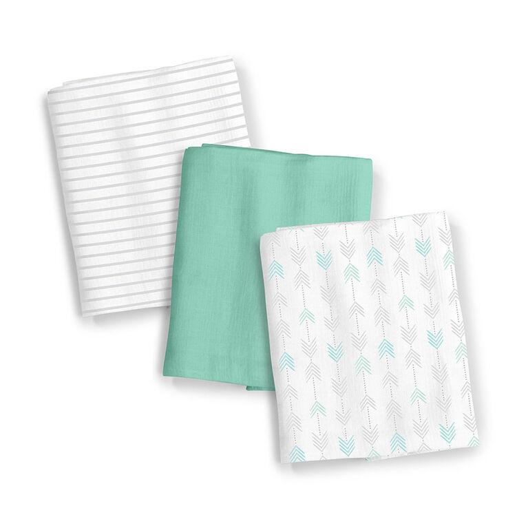 Summer Infant SwaddleMe Muslin Blankets - Aztec Stripe