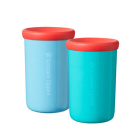 Tommee Tippee Easiflow 360° Spill-Proof Cup with Travel Lid 8oz, 12m+, 2-Pack , Aqua & Teal