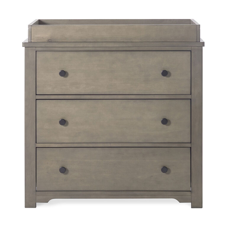 Forever Eclectic by Child Craft - Harmony 3-Drawer Dresser with Dressing Kit- Dusty Heather