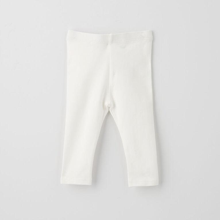 organic play legging, 3-6m - white