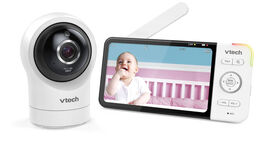 "VTech RM5764HD Smart Wi-Fi Video Baby Monitor with 5"" display and 1080p HD 360 degree, Panoramic Viewing Pan & Tilt Camera, White"