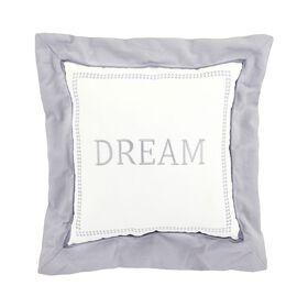 Just Born Dream Dream Throw Pillow - Grey