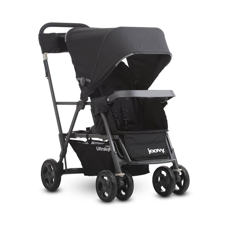 Joovy Caboose Ultralight Graphite Stand-on Tandem Stroller - Black