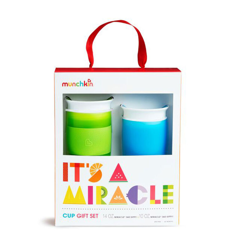 Munchkin- It's A Miracle Cup Gift Set- Blue/Green - English Edition