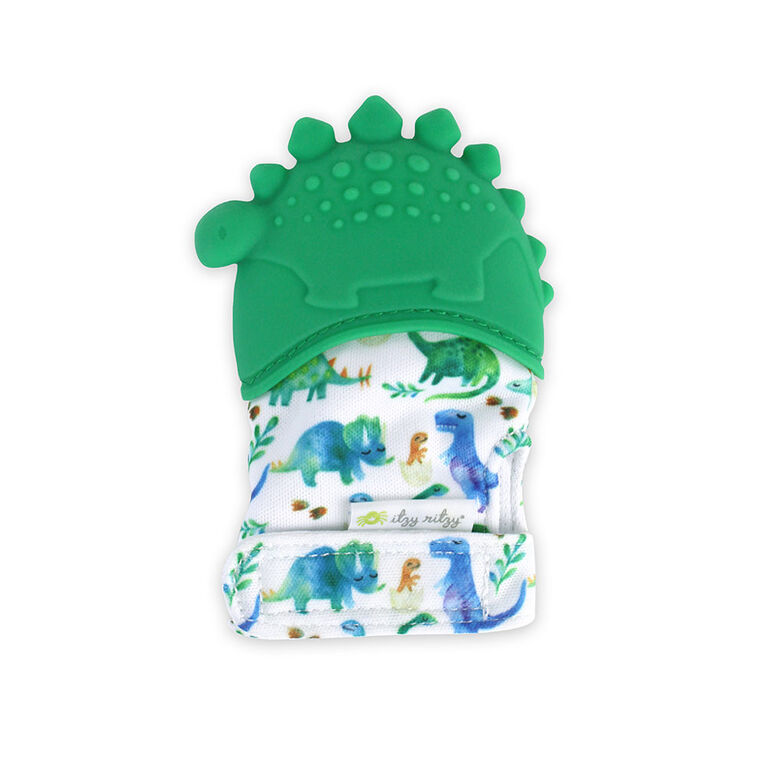 Itzy Ritzy Teething Happens Teething Mitt- Dino