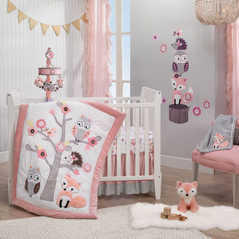 Lambs & Ivy - Friendship Tree 3-Piece Crib Bedding Set - Multicolor