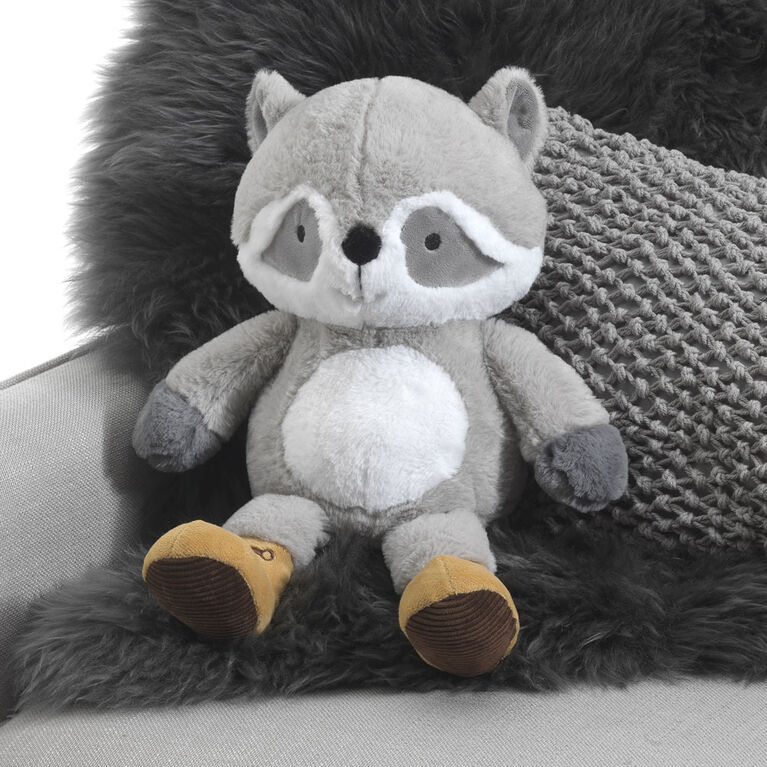 Lambs & Ivy - Little Campers Plush Raccoon - Pumpkin - Gray