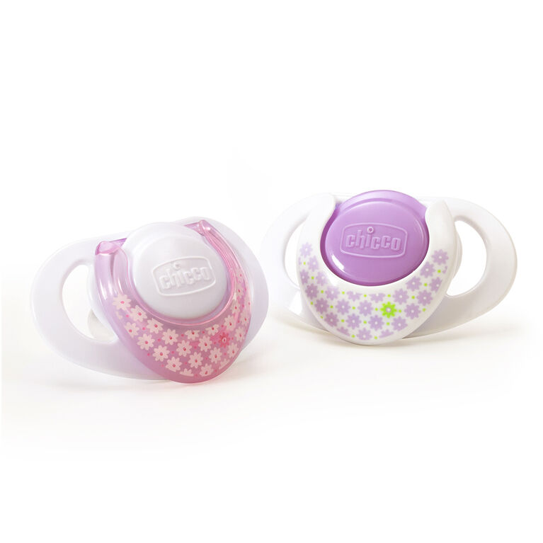 Chicco NaturalFit 2-Pack Deco Orthodontic Pacifier 0 Months+ - Pink