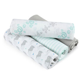 aden by aden + anais swaddle 4 pack, baby star