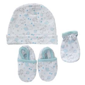Koala Baby 3-Pack Set - Hat, Mittens, Booties - Blue Bears