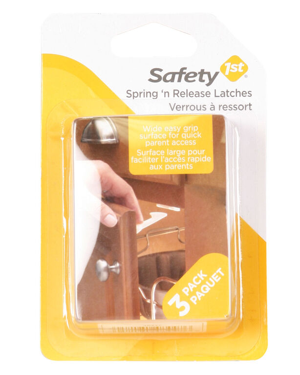 Safety 1st Spring N' Release Latch 3-Pack